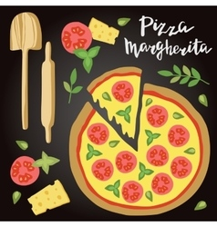 Margherita Pizza with vector image