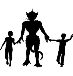 Monster kids vector image