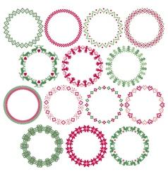 nordic circle frames vector image