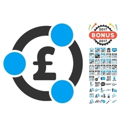Pound Financial Collaboration Icon With 2017 Year vector