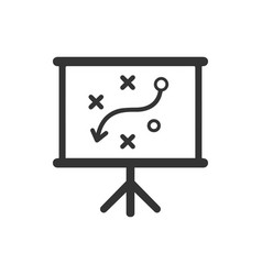 Presenting a strategic planning icon vector