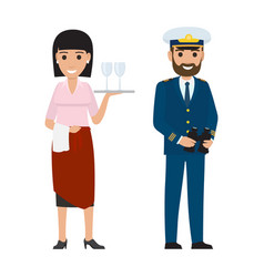 professions people cartoon characters vector image