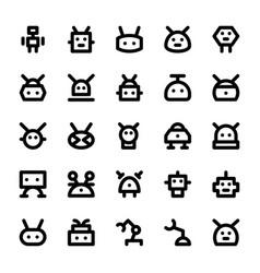 Robotic line icons vector