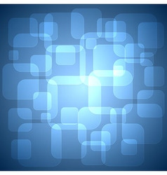 Rounded squares blue background vector