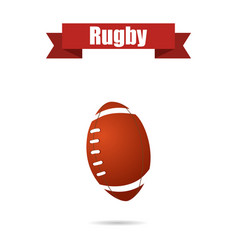 rugby ball with shadow vector image