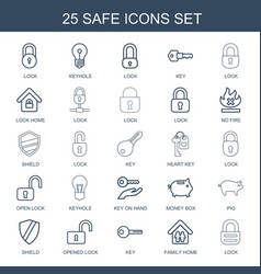 safe icons vector image