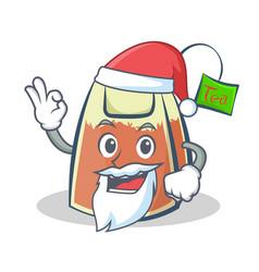 Santa tea bag character cartoon vector