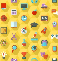 School Hexagon Pattern vector image