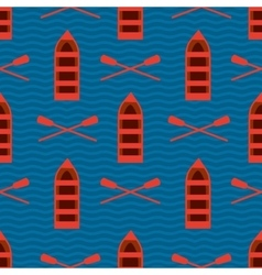 Seamless pattern with boats Sea theme texture vector image