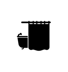 shower curtain bathroom and sauna element icon vector image