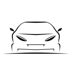 simple car icon vector image