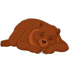 Sleeping bear vector