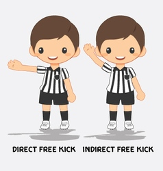 soccer referee signals vector image
