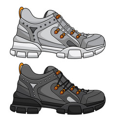 Sports shoes for women vector