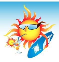 Sun cocktail vector