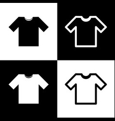 t-shirt sign black and white vector image