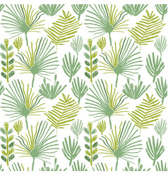 Tropical greenery flower seamless pattern vector