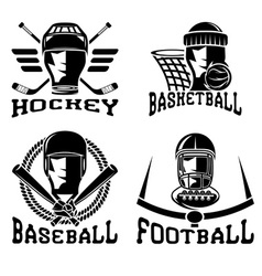 Vintage sport labels set vector