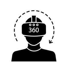 Virtual reality video glyph icon vector