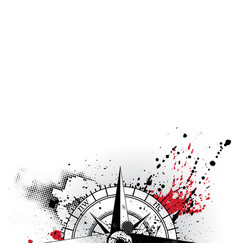 wind rose grunge background vector image