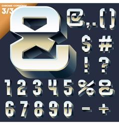 alphabet of simple 3d letters vector image