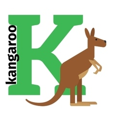 English animals zoo alphabet letter K vector image vector image
