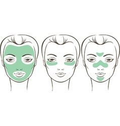 Female face with beauty mask vector image vector image