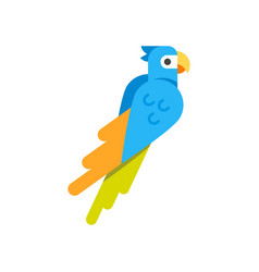 flat style of parrot vector image vector image