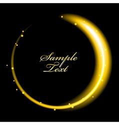 golden glowing vector image