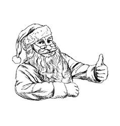 hand sketch santa claus vector image