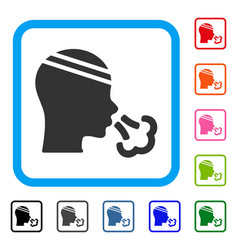 patient sneeze framed icon vector image