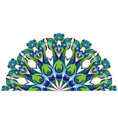decorative tail peacock vector image