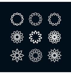 Flower symbols vector image vector image