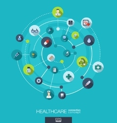 Healthcare connection concept Abstract background vector image vector image