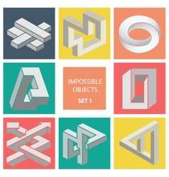 Impossible objects set 1 vector