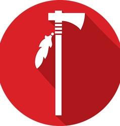 Indian Axe Icon vector image vector image