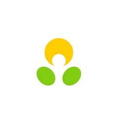people abstract dot happy logo vector image vector image