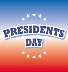 Presidents Day USA banner on red and blue vector image vector image