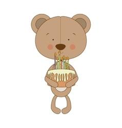 teddy bear character icon image vector image