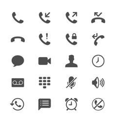 Telephone flat icons vector image vector image