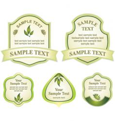 various labels graphic vector image vector image