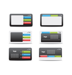 web business card set 05 vector image vector image