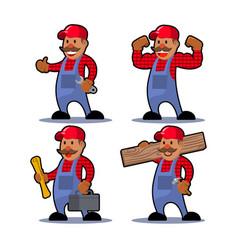 worker man mustache vector image