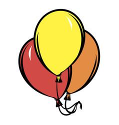 balloons icon cartoon vector image vector image