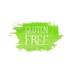 gluten free food concept logo design template vector image