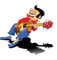 Guitar busker vector image vector image
