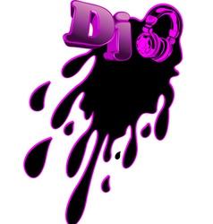 Music dj splash vector