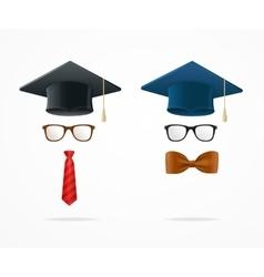 Professor Graduated Geek Sign Avatar vector image vector image