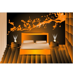 render night bedroom vector image