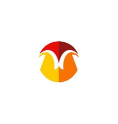 shape geometry unusual company logo vector image vector image